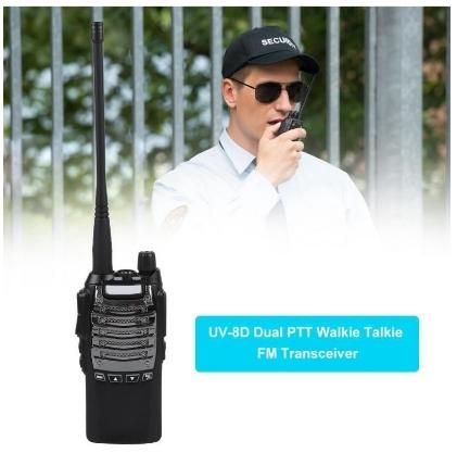 Statie Radio Walkie Talkie Baofeng UV-8D UHF 400 - 520MHz 16CH PROGRAMABILE 8W, radio UHF 65 - 108 MHz1
