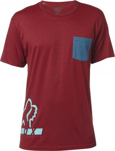 DISPLACED SS TEE HEATHER RED [0]