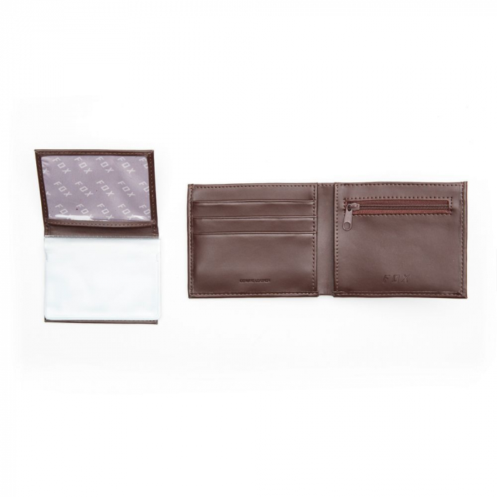 TRIFOLD LEATHER WALLET [BRN] [4]