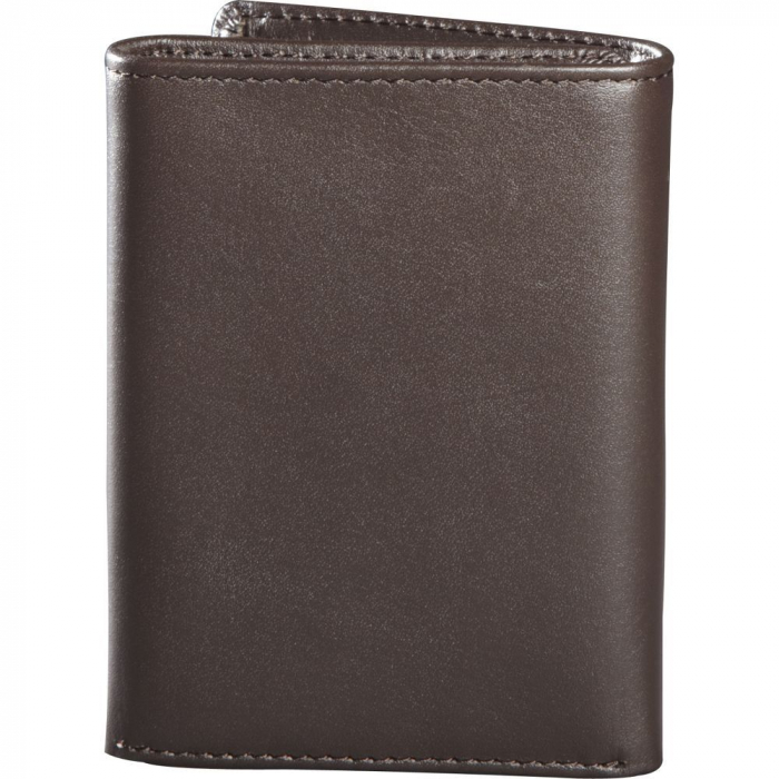 TRIFOLD LEATHER WALLET [BRN] [1]