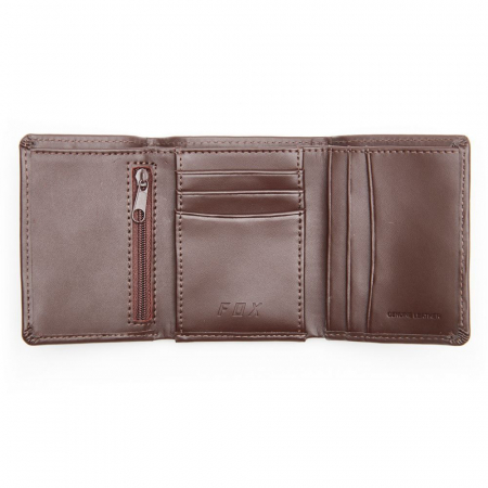 TRIFOLD LEATHER WALLET [BRN] [2]