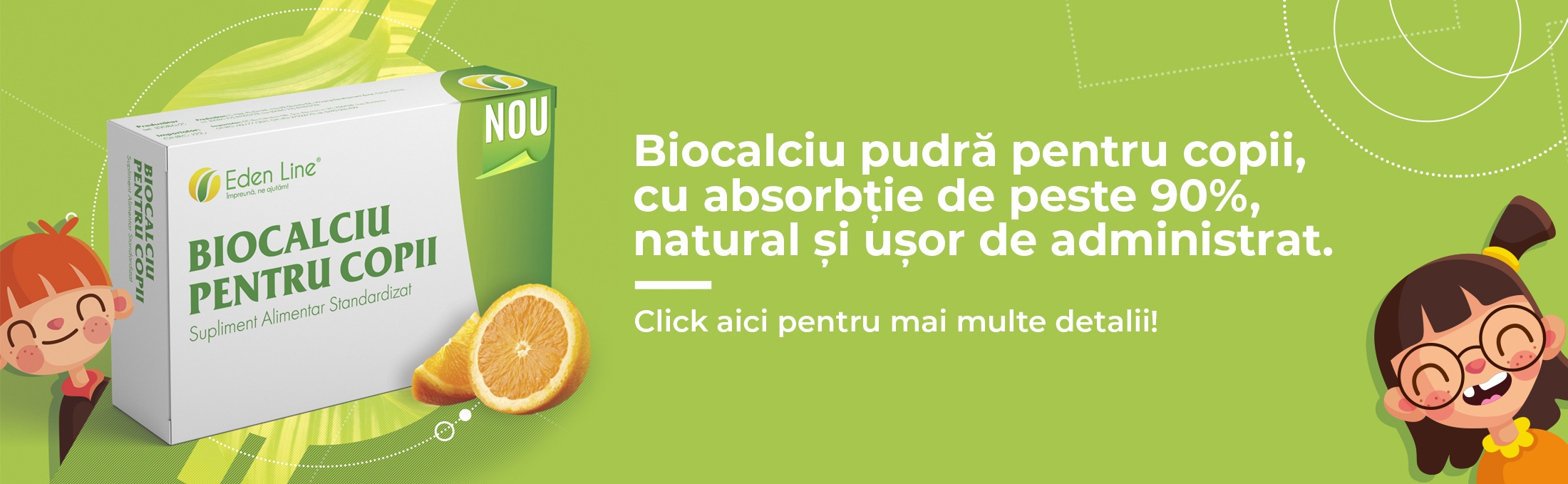 Biocalciu pentru copii banner energym