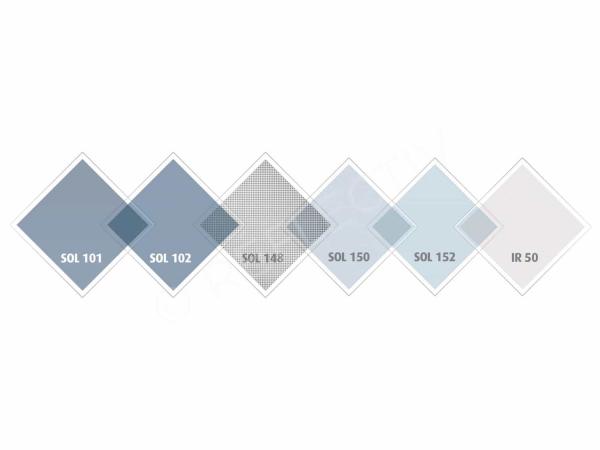 SOL 101 Folie argintiu deschis Interior, Protectie solara 75%, 1000 x 1520 mm 2