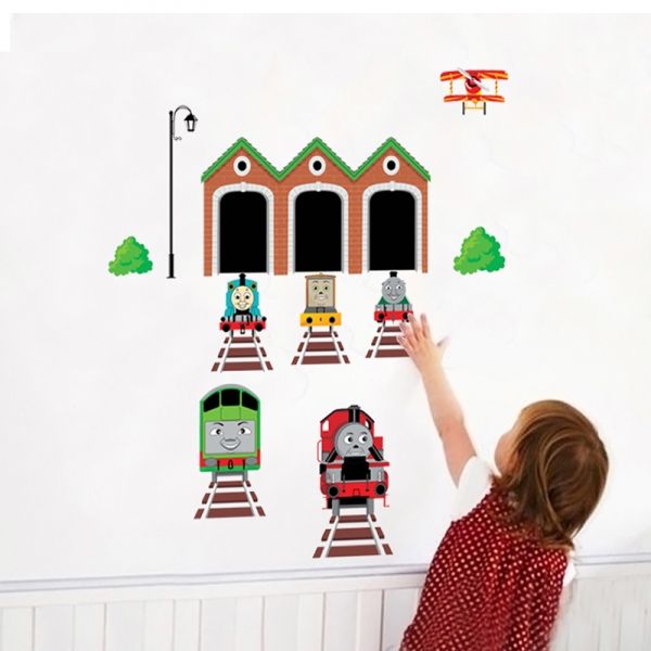 Abtibild perete copii - Trenulete in gara 0