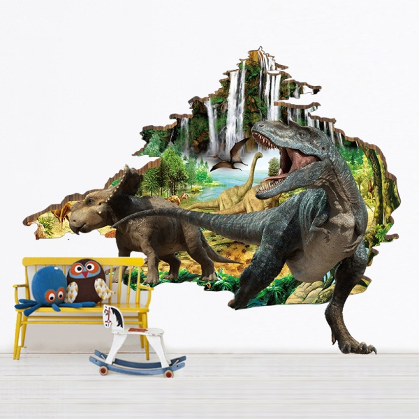 Autocolant 3D - Dinozauri - 100x86 cm 0