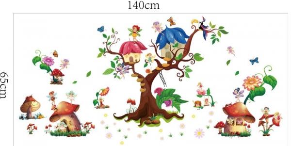 Autocolant copii - Lumea zanelor - 140x65 cm 6