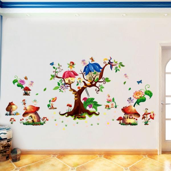 Autocolant copii - Lumea zanelor - 140x65 cm 0