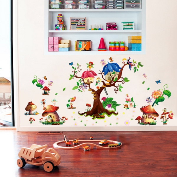 Autocolant copii - Lumea zanelor - 140x65 cm 1