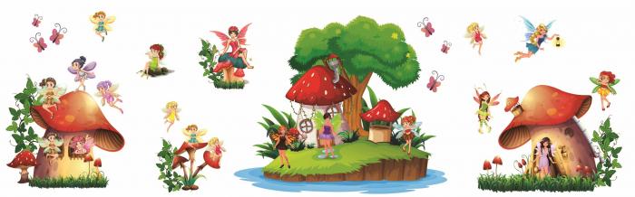 Stickere copii - Lumea zanelor - 160x50 cm 1