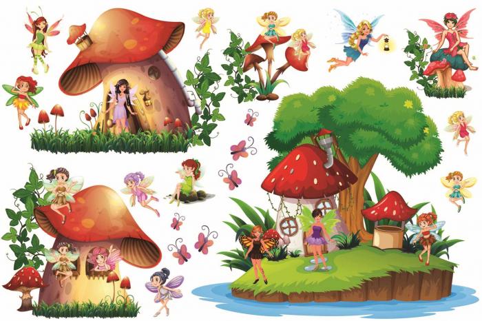 Stickere copii - Lumea zanelor - 160x50 cm 0