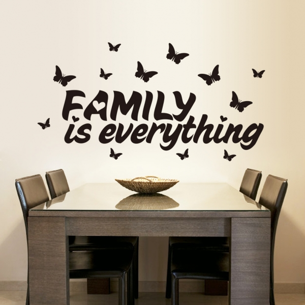 Autocolant cu text - Family is everything 2
