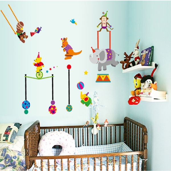 Autocolant de perete copii - Animalute la circ 1