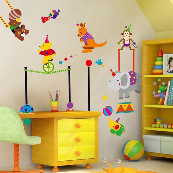 Autocolant de perete copii - Animalute la circ 3