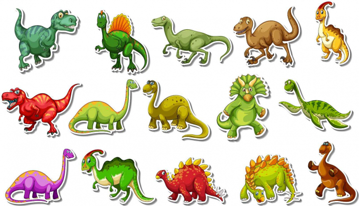 Set Stickere - Dinozauri Colorati - 40x70 cm 0