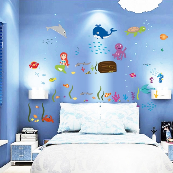 Autocolant decorativ camere copii - Lumea sirenei 2