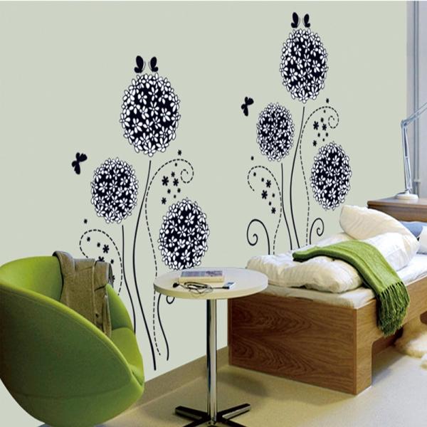 Autocolant decorativ - Flori si fluturi 5