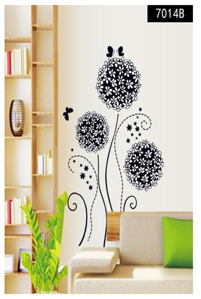 Autocolant decorativ - Flori si fluturi 9