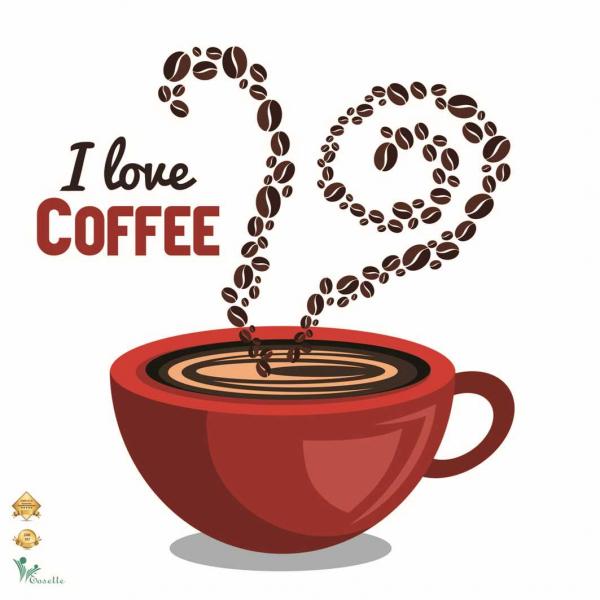 Autocolant perete - I love coffee - 60x60 cm 0