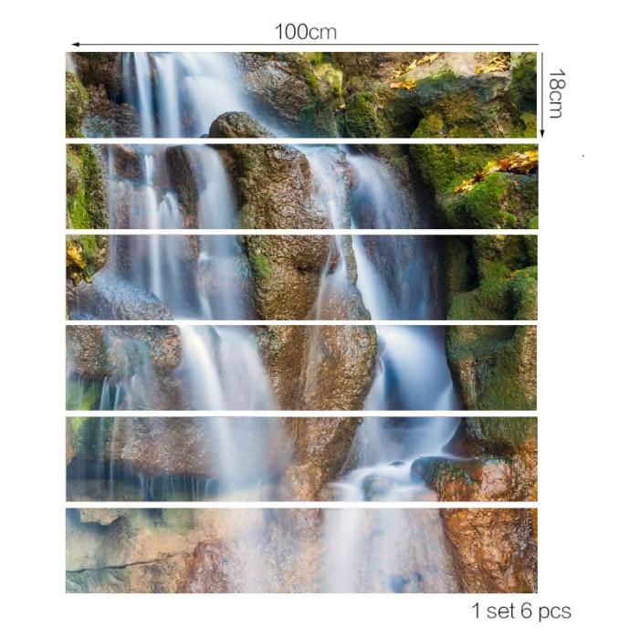 Sticker Scari - Cascada si Stanci - 6 folii de 18x100 cm 3