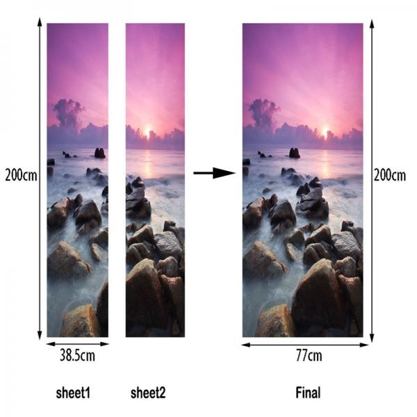 Autocolant usa - Apus violet - 2 folii de 38,5x200 cm 5