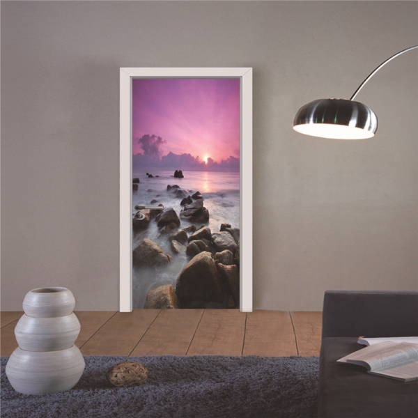 Autocolant usa - Apus violet - 2 folii de 38,5x200 cm 4