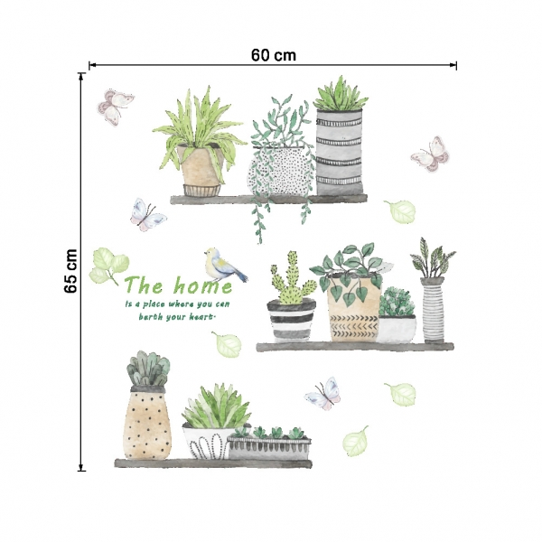 Stickere decorative - Rafturi cu plante - 60x65 cm 3