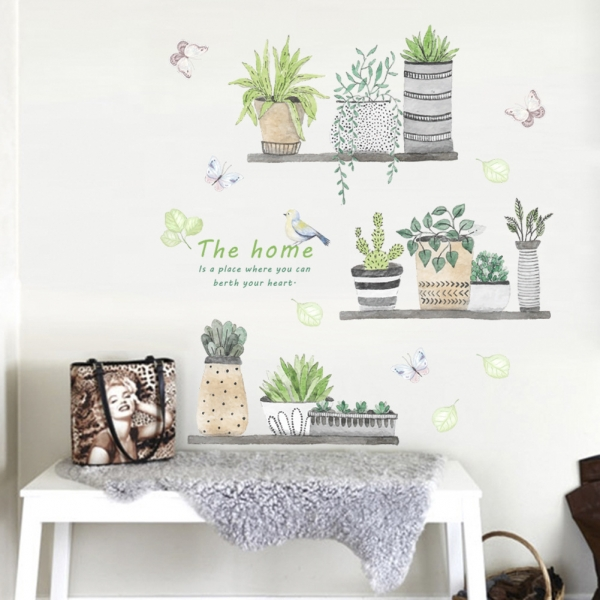 Stickere decorative - Rafturi cu plante - 60x65 cm 1