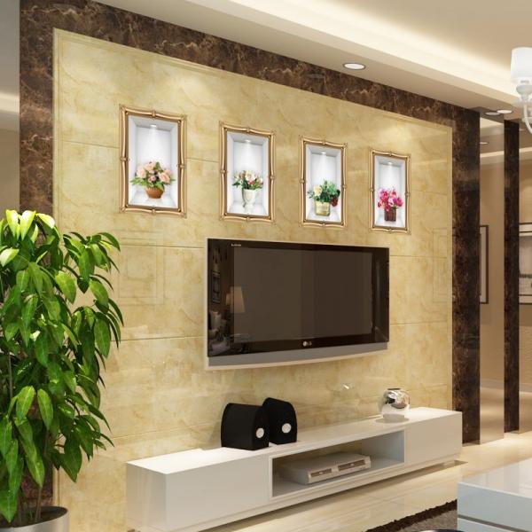 Stickere camera de zi - Aranajamente florale 3D - 122x44 cm 5