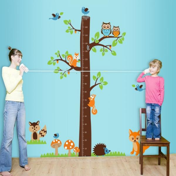 Autocolante camere bebelusi - Masurator de inaltime - Copacul din padure 3