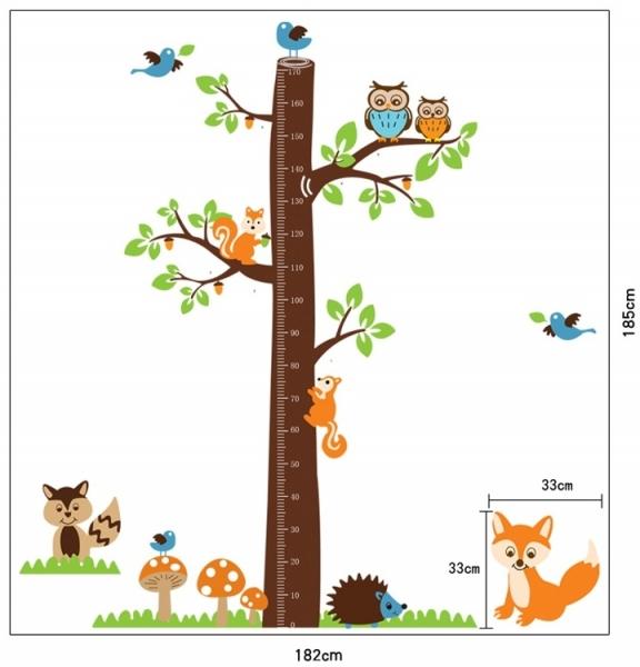 Autocolante camere bebelusi - Masurator de inaltime - Copacul din padure 4