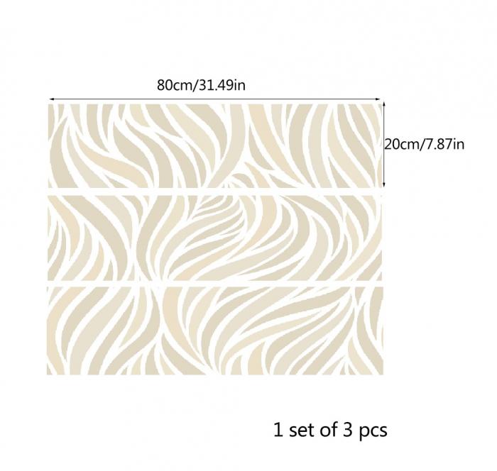 Autocolante pentru mobila - Frunze Bej - 20x80 cm x 3 bucati [2]