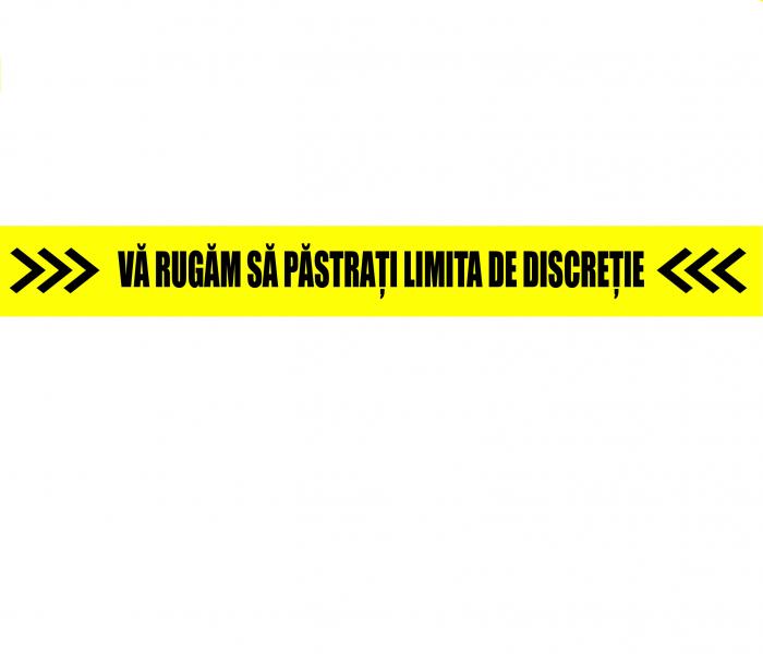 Autocolant Podea - Va rugam pastrati limita de discretie - 94x10 cm - set 5 buc 0