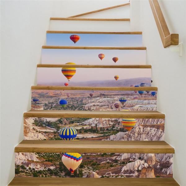 Autocolante scari - Baloane cu aer cald - 6 folii de 18x100 cm 1