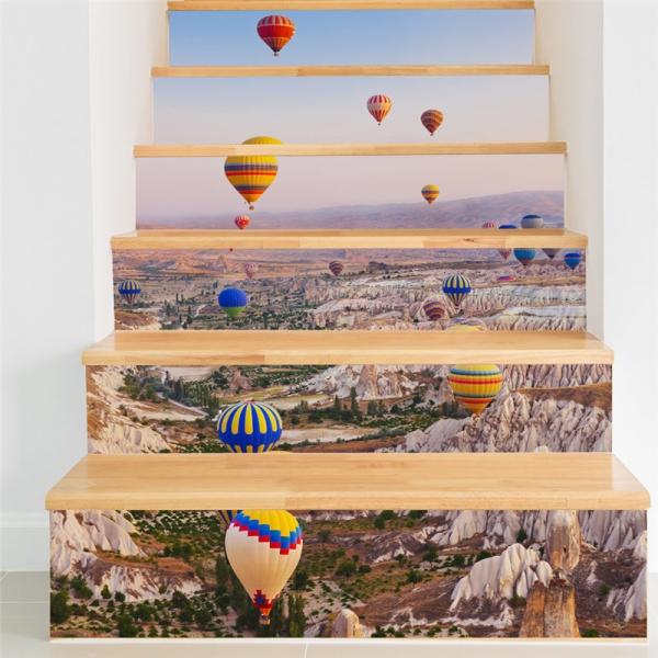 Autocolante scari - Baloane cu aer cald - 6 folii de 18x100 cm 2