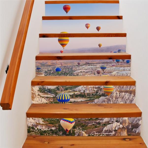 Autocolante scari - Baloane cu aer cald - 6 folii de 18x100 cm 0