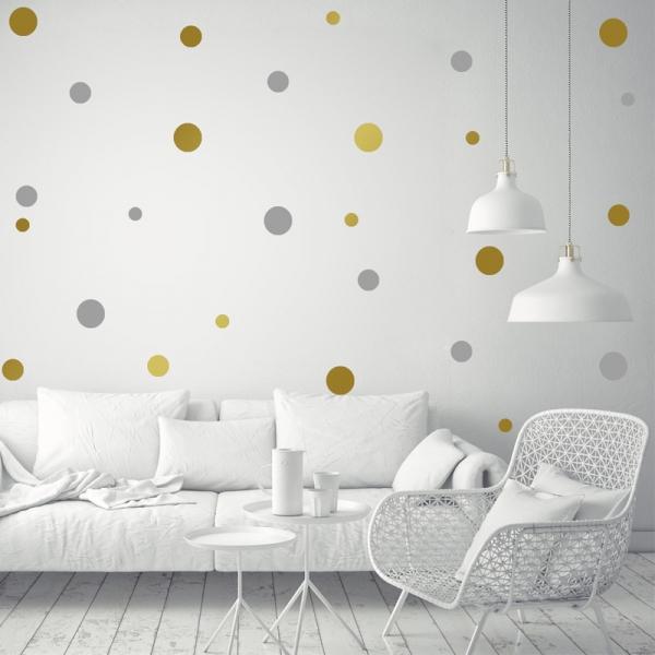 Decor perete camera bebe - Buline - Argintiu, Auriu 0