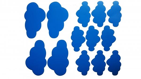 Decoratiuni camera bebe - Nori pufosi - Albastru 0