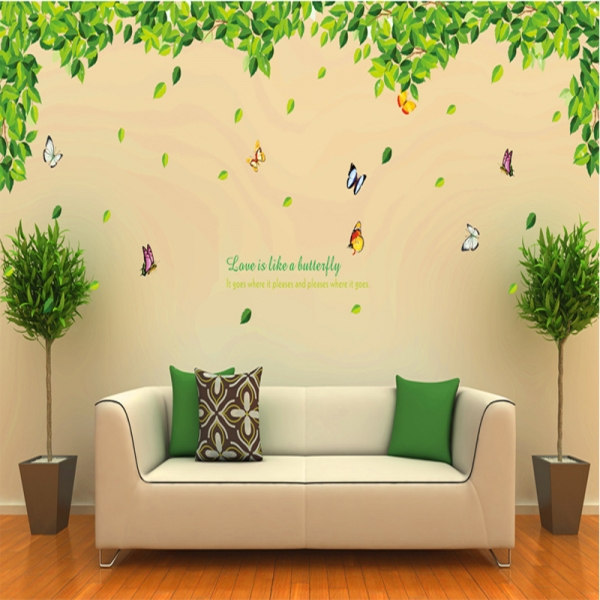 Decoratiuni perete - Frunze si fluturi 0