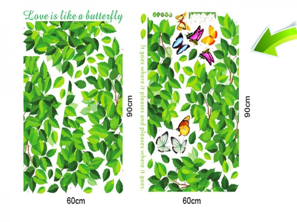 Decoratiuni perete - Frunze si fluturi 3