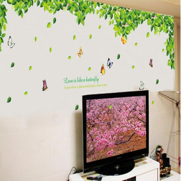 Decoratiuni perete - Frunze si fluturi 2