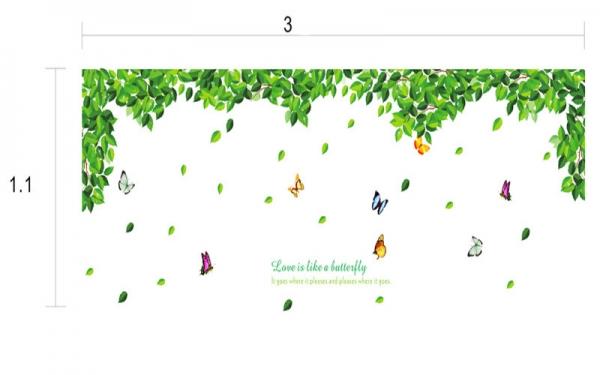 Decoratiuni perete - Frunze si fluturi 4