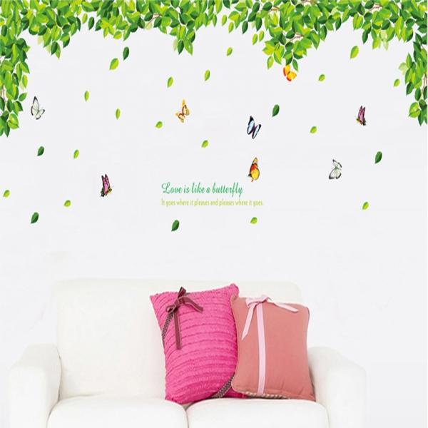Decoratiuni perete - Frunze si fluturi 1