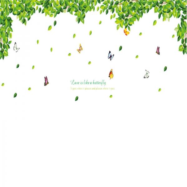 Decoratiuni perete - Frunze si fluturi 5