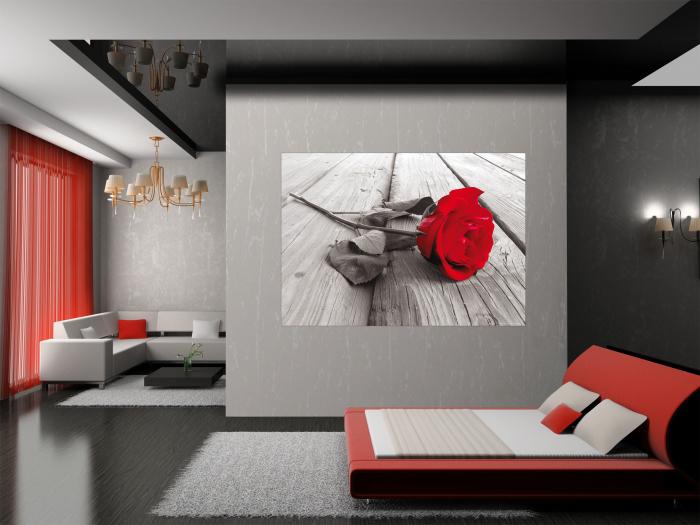 Fototapet Trandafir Rosu [1]