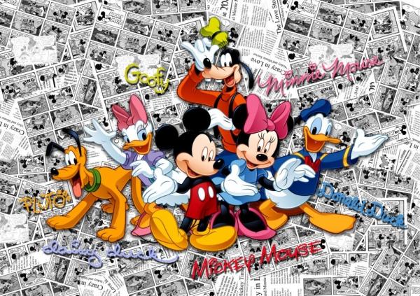 Fototapet Trupa lui Mickey Mouse 0