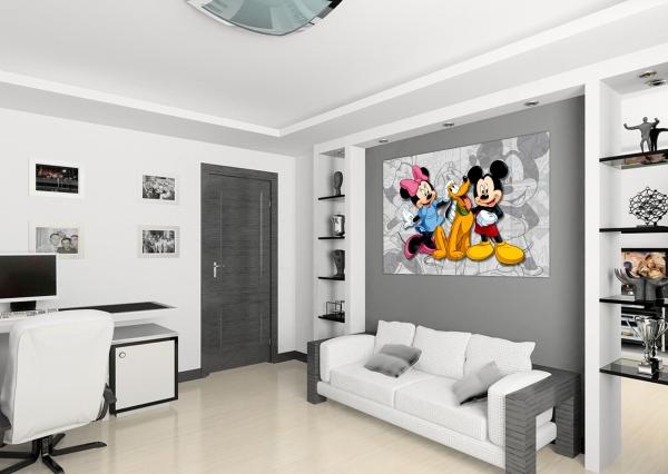 Fototapet Minnie, Mickey si Pluto 1