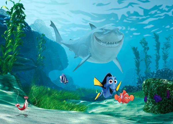 Fototapet Nemo, Dory si Rechinul Bruce 0