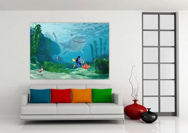 Fototapet Nemo, Dory si Rechinul Bruce 1