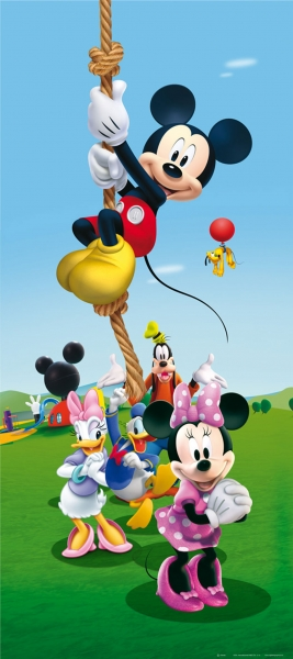 Fototapet Disney - Mickey Mouse Face Sport 0