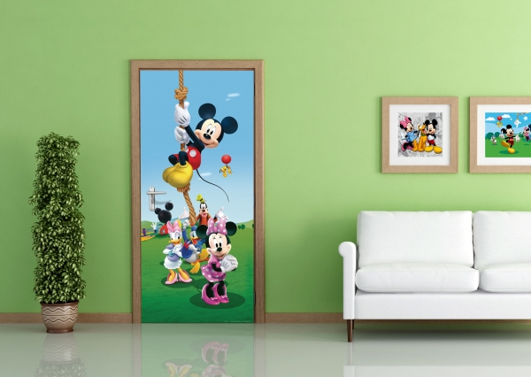 Fototapet Disney - Mickey Mouse Face Sport 1